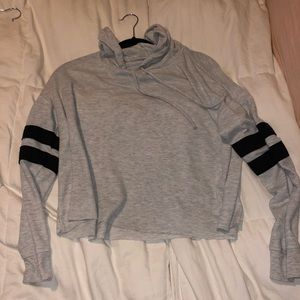 Gray and black hoody t shirt